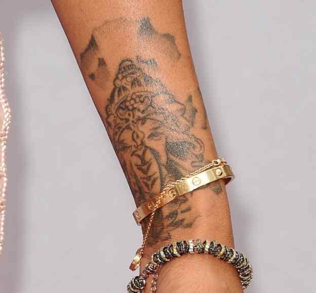 Brandy Norwood ganesha tattoo