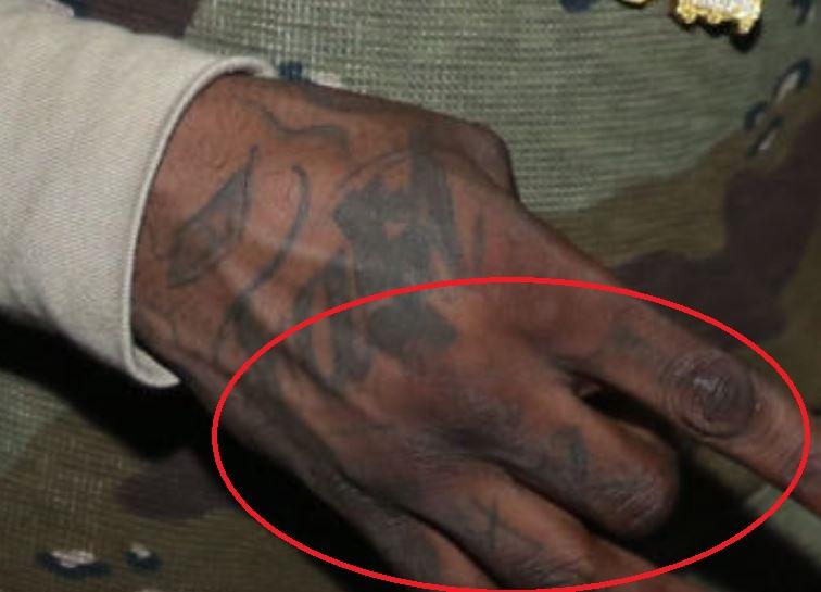 Chief hand tattoo