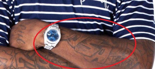 Chief left forearm tattoo