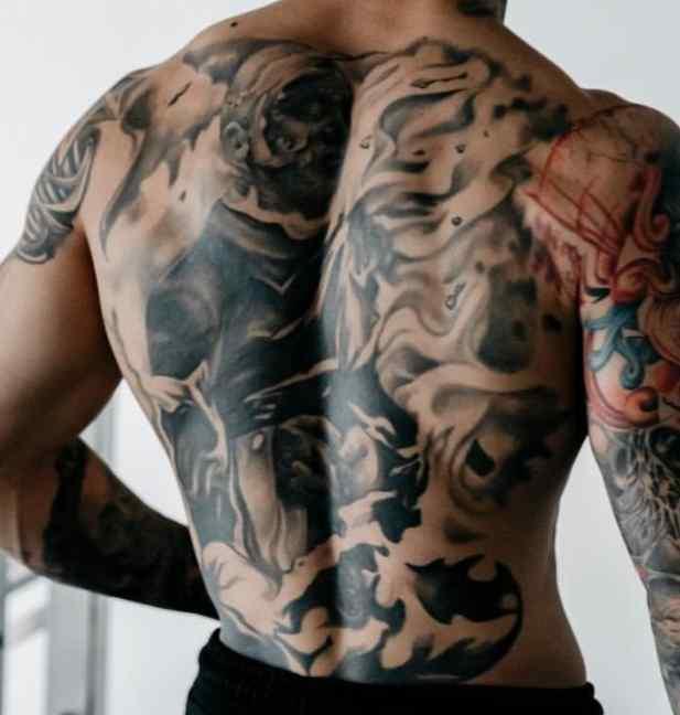 Chris Heria back tattoo
