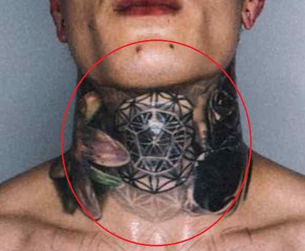 Chris Heria geometric tattoo