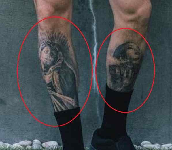 Chris Heria leg tattoo
