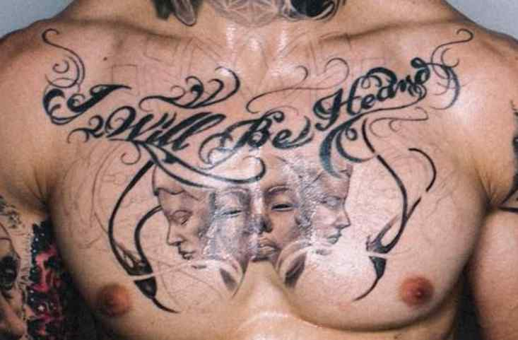 Chris Heria quote tattoo