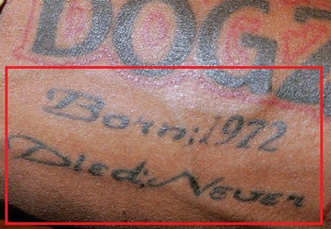 DMX-Born 1972 died never tattoo