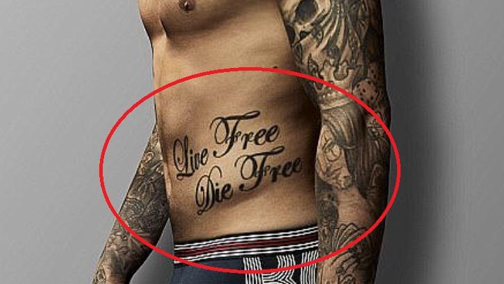 Dustin Live Free Die Free Tattoo