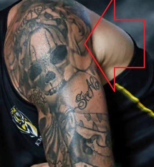 Dustin left bicep tattoo