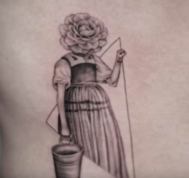 Ethan flower girl tattoo
