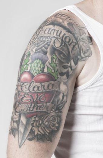 Ewan shoulder tattoo