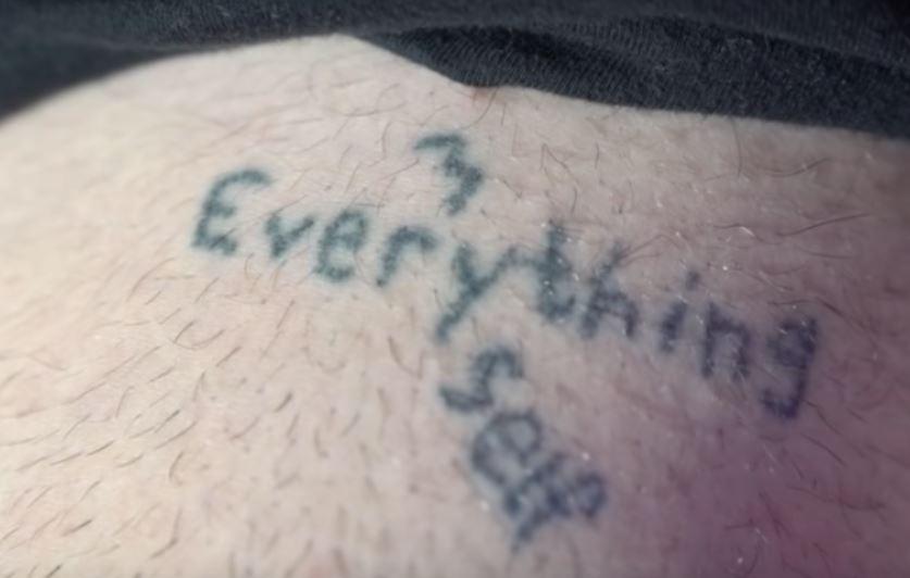 Grayson EVERYTHING MYSELF Tattoo