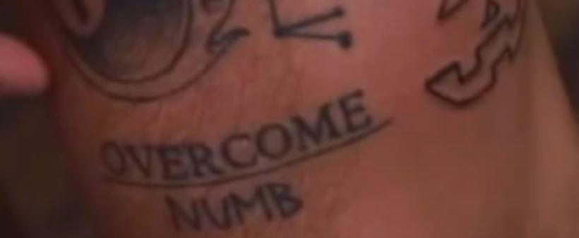 Grayson OVERCOME NUMB Tattoo
