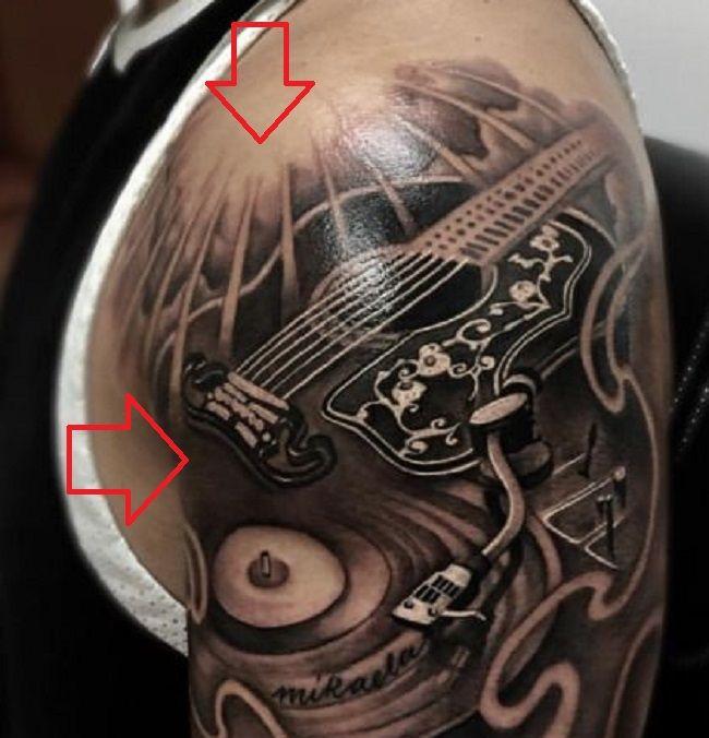 Guitar-Tattoo-Luis Fonsi