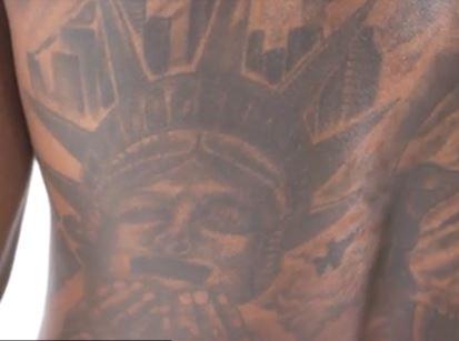 Jarvis back tattoo