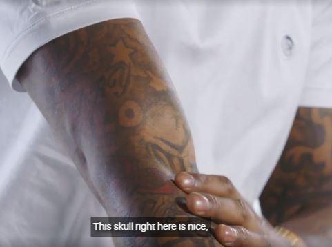 Jarvis skull tattoo