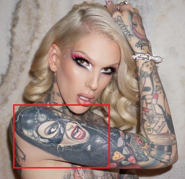 Jeffree Star-Cat woman-Tattoo