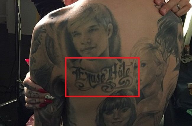 Jeffree Star-Erase Hate-Tattoo