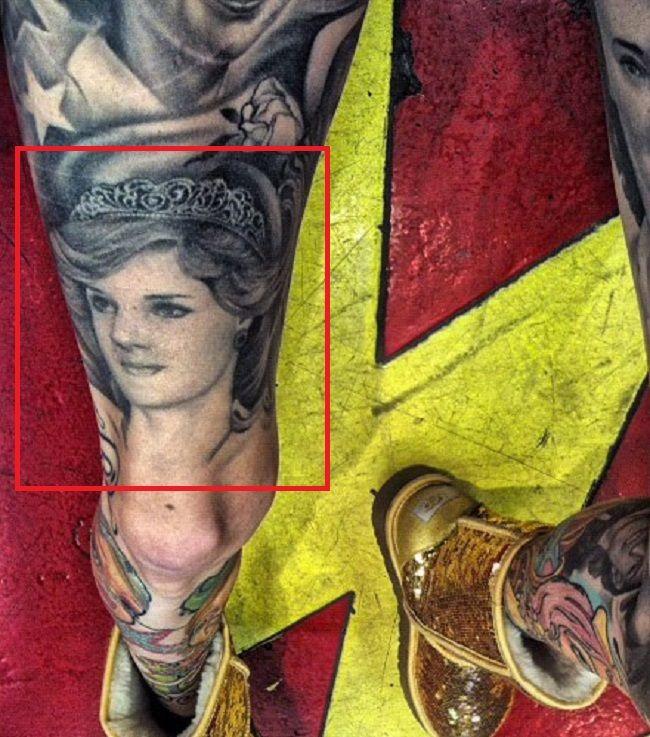 Jeffree Star-Princess Diana-Tattoo