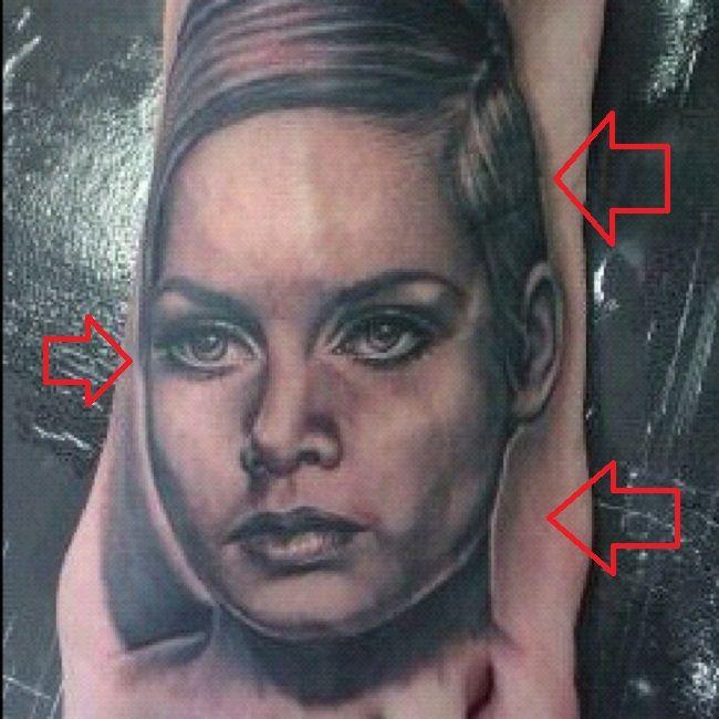 Jeffree Star-Twiggy Portrait Tattoo