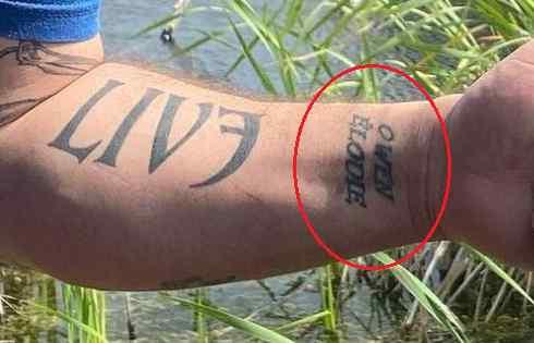 Kevin Owens live name tattoo