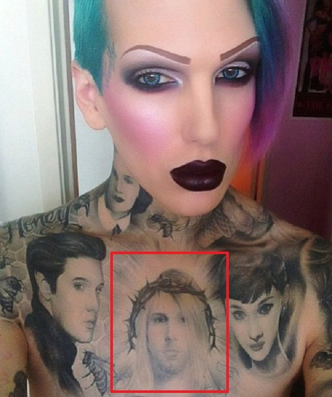 Kurt Kobain-Jeffree Star-Tattoo