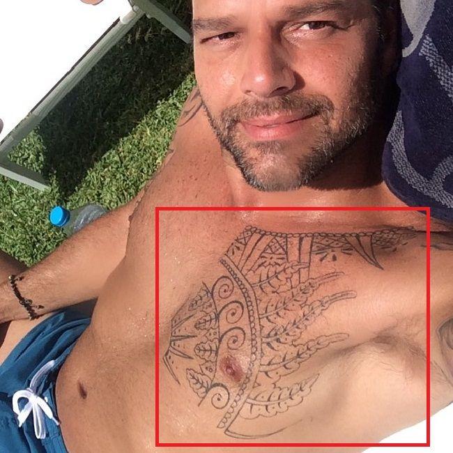 Left Pec tattoo Ricky Martin