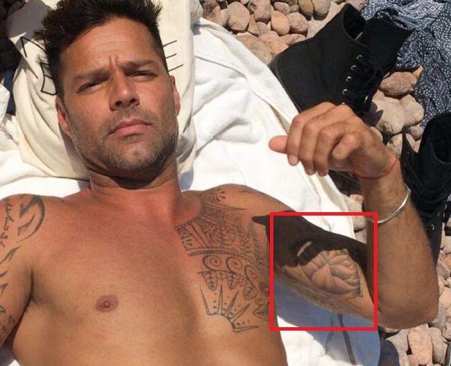 Lotus tattoo-Ricky Martin