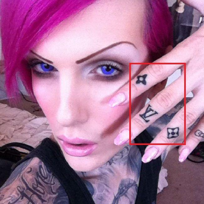Louis Vuitton-Tattoo-Symbols-Jeffree Star-Tattoo