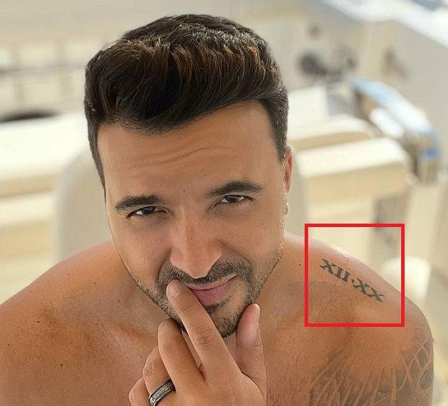Luis Fonsi-Roman Numerals Tattoo