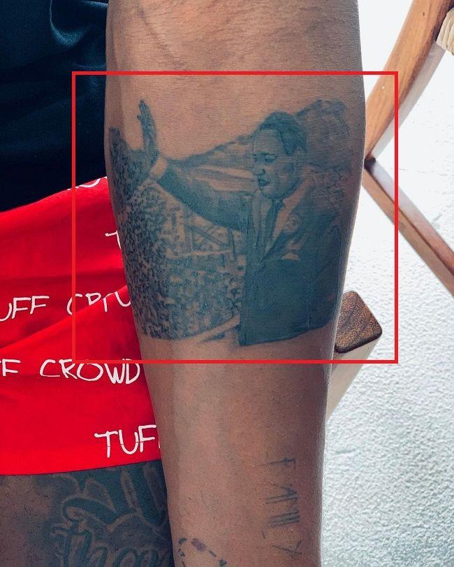 Martin Luther King Jr-TattooDwyane Wade-Tattoo