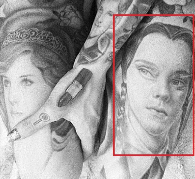Portrait of Wednesday Addams-Jefree Star