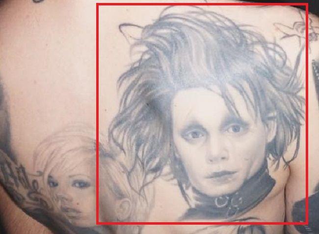 Portrait tattoo of jeffree