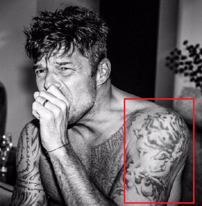 Ricky Martin-Naked Woman-Tattoo