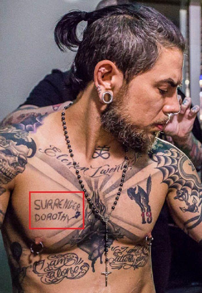 SURRENDER DOROTHY-tattoo-Dave Navarro