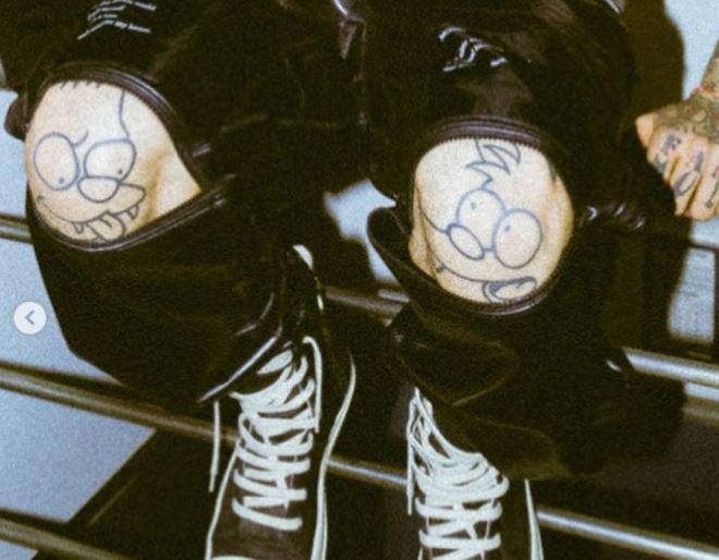 Sosmula knee tattoos