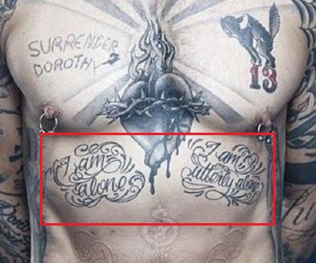 dave navarro-i am alone-tattoo