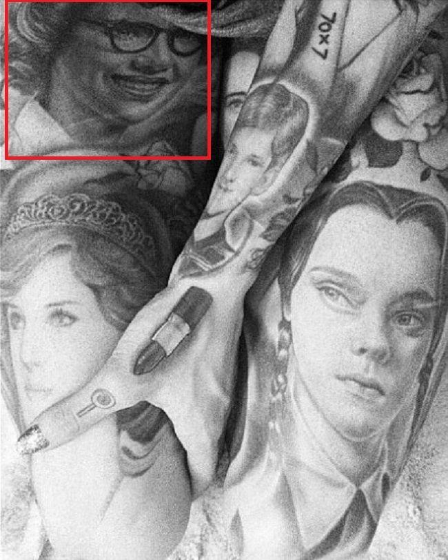 grandmother tattoo-Jeffree Star