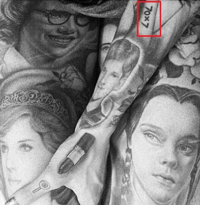 left arm tattoo of jeffree star