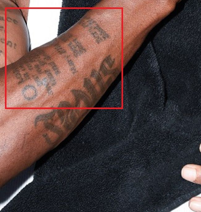 right forearm of dmx