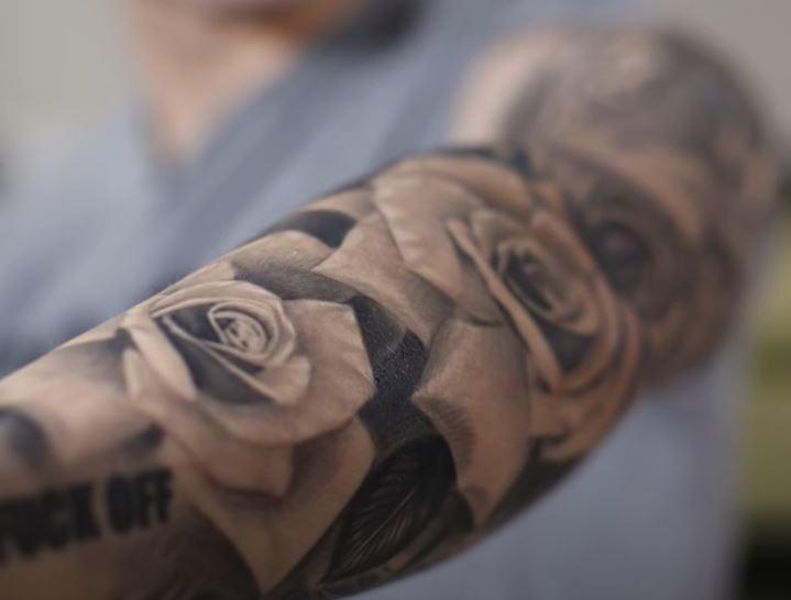 Adriel roses tattoo