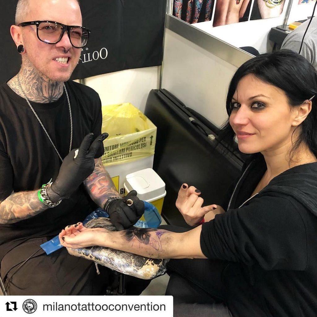 Black Cat Tattoo-Cristina Scabbia-Tattoo-Process