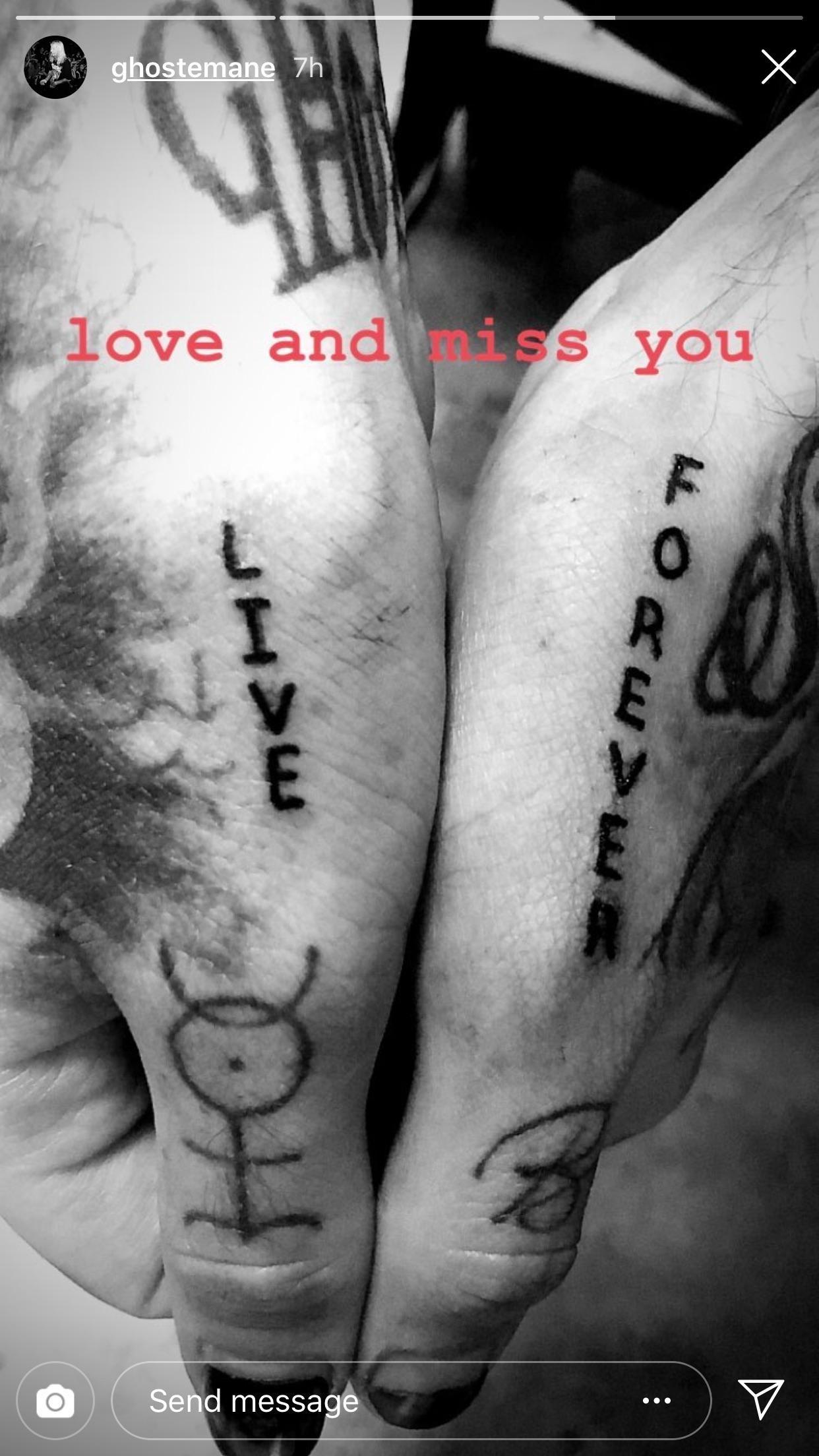 GHOSTEMANE Lil peep Tattoo