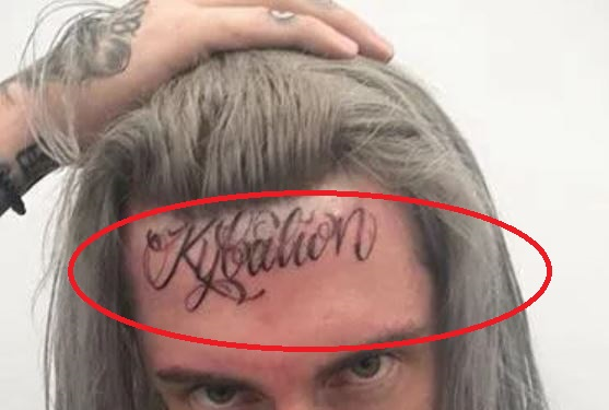 GHOSTEMANE head tattoo