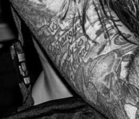 GHOSTEMANE right bicep tattoo