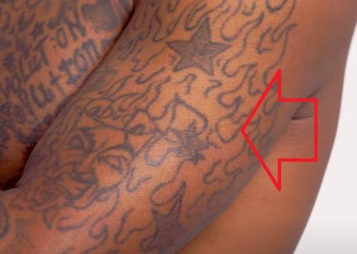JID flames tattoo