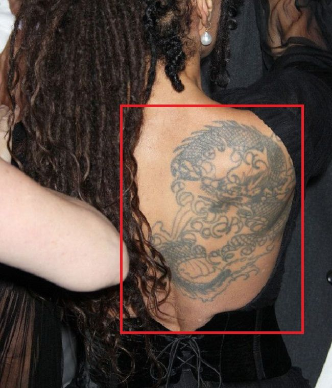 Lisa Bonet-back Tattoo