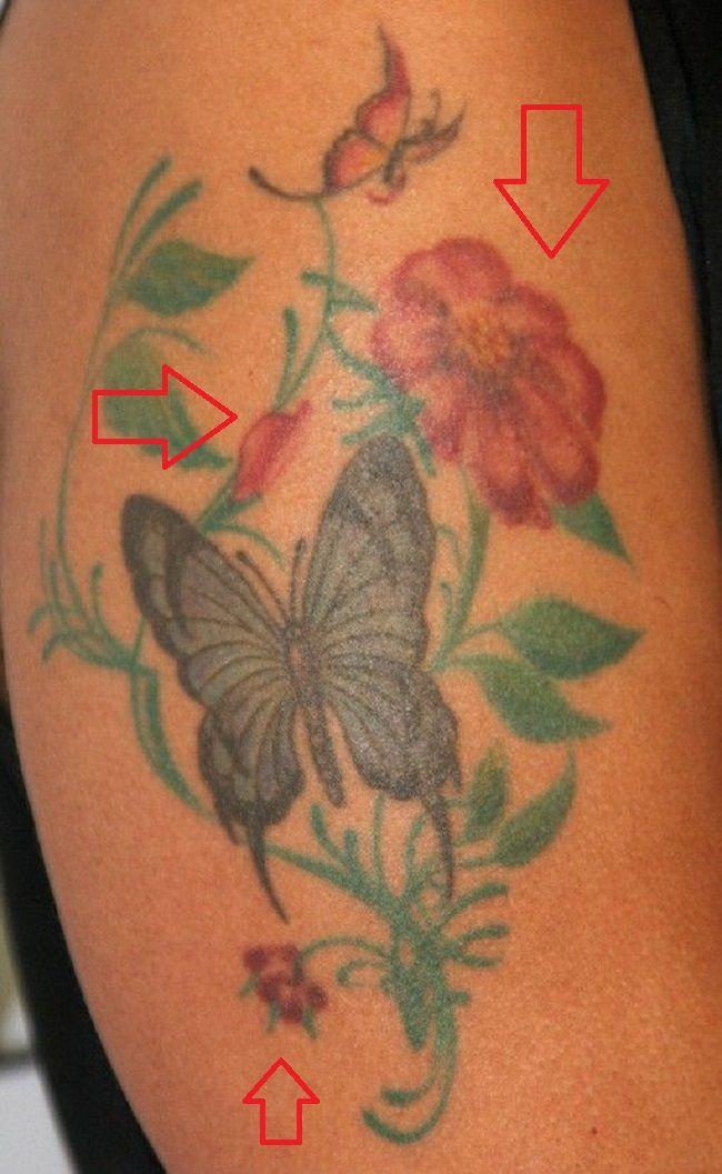 Marsha Tattoo Flowers