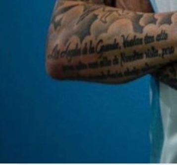 Mauro writing on arm tattoo