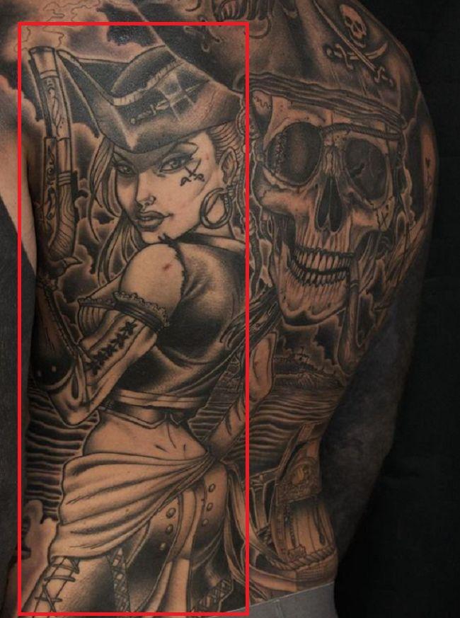Pirate Girl-Tattoo-Robert Sandberg