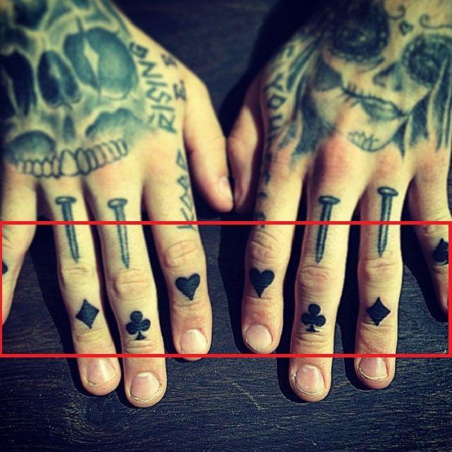Playing Card suits tattoo-robert sandberg