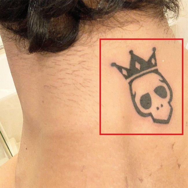 Prateik Babbar-Skull with Crown-Tattoo