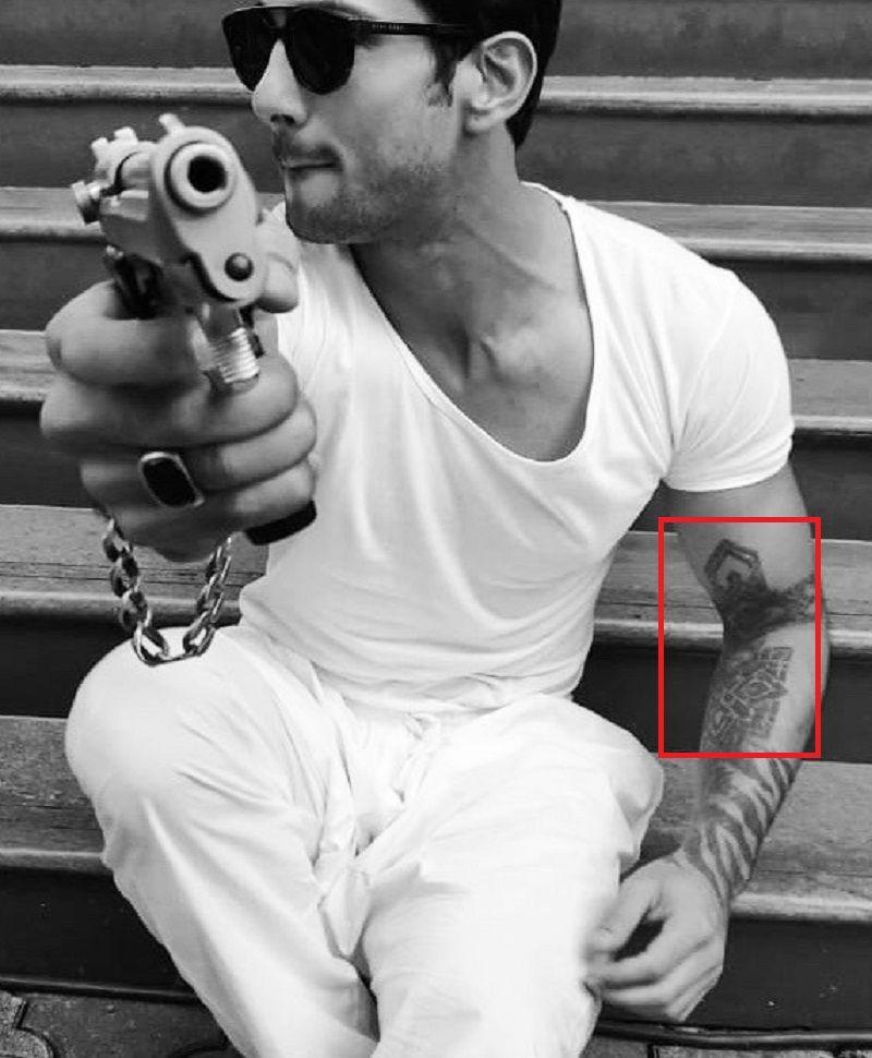 Prateik Babbar-Tattoo-Arm-Tattoo